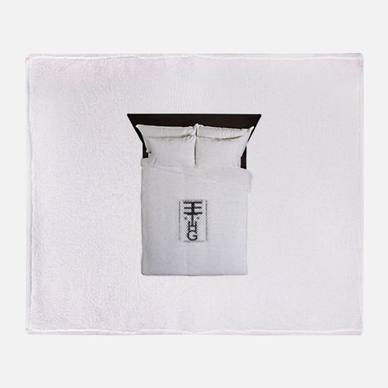 H and m Throw Blanket