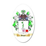 Huget 35x21 Oval Wall Decal