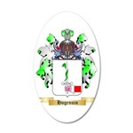 Hugenuin 35x21 Oval Wall Decal