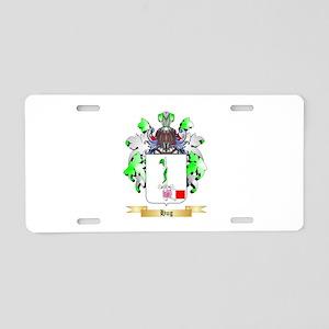 Hug Aluminum License Plate