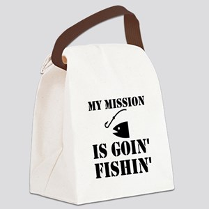 My Mission Fishing Canvas Lunch Bag