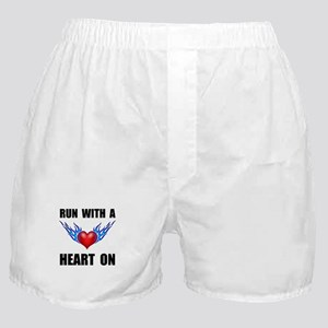 Run Heart On Boxer Shorts
