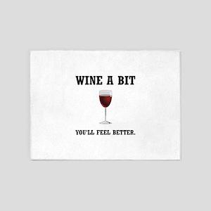 Wine Feel Better 5'x7'Area Rug