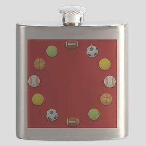 Sports Balls Clock Flask
