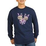 Love and Hate Fists Long Sleeve Dark T-Shirt