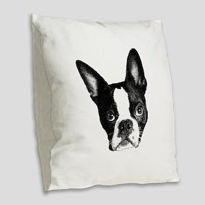 What? Burlap Throw Pillow