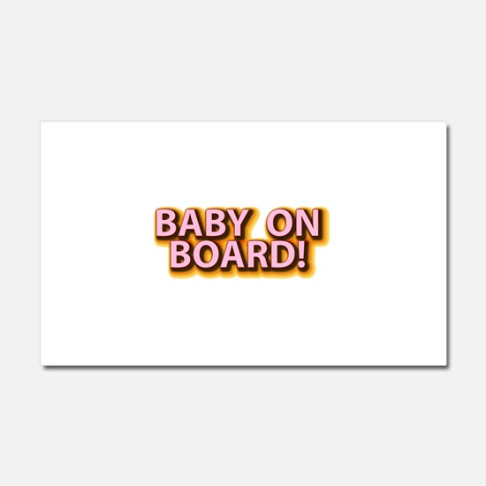 Baby on Board - Pink Car Magnet 20 x 12