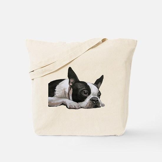 Cute Boston terriers Tote Bag