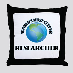 World's Most Clever Researcher Throw Pillow