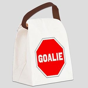 GOALIE (STOP SIGN) Canvas Lunch Bag