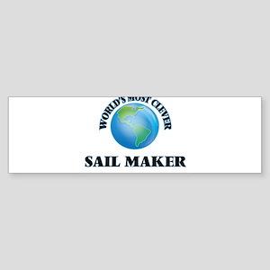 World's Most Clever Sail Maker Bumper Sticker