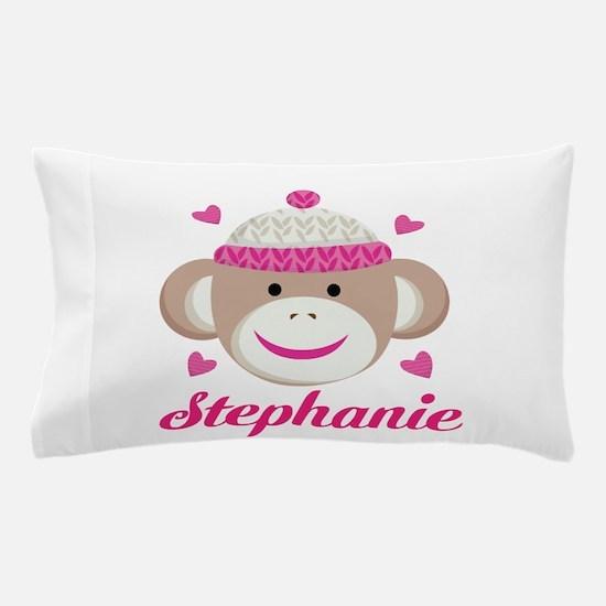Personalized Sock Monkey Pillow Case