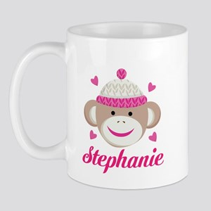 Personalized Sock Monkey Mugs