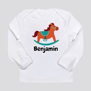 Personalized Baby Rocking Horse Long Sleeve T-Shir