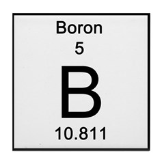 Periodic Table Boron Tile Coaster
