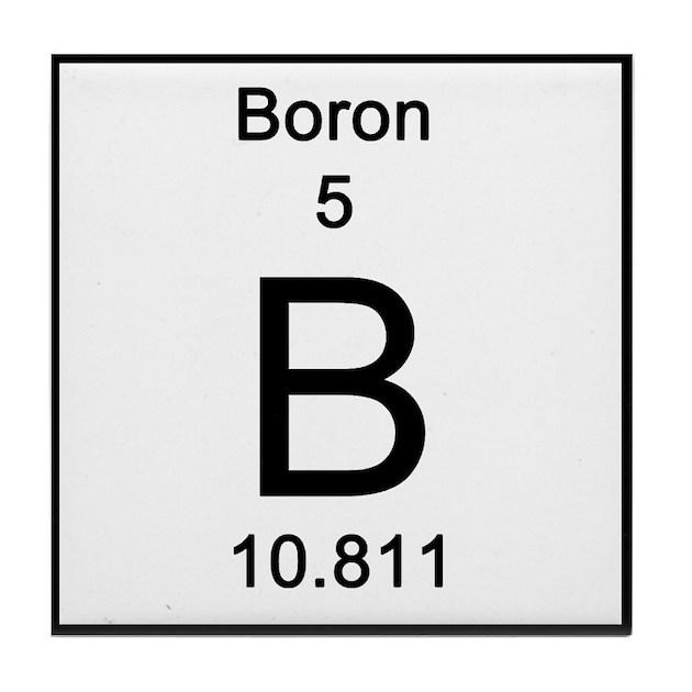 Periodic Table Boron Tile Coaster By Sciencelady