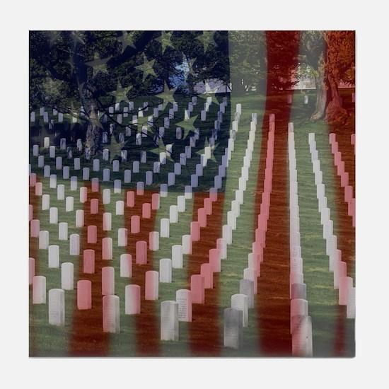 Patriotism Tile Coaster