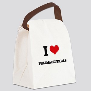 I Love Pharmaceuticals Canvas Lunch Bag