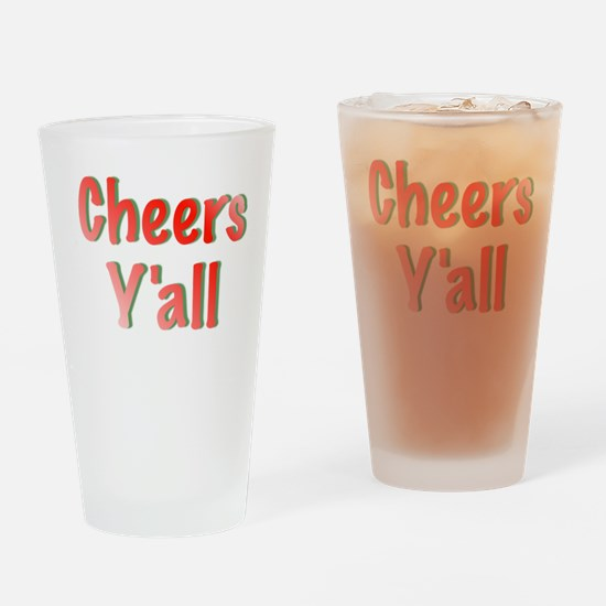 Cheers Y'all Drinking Glass