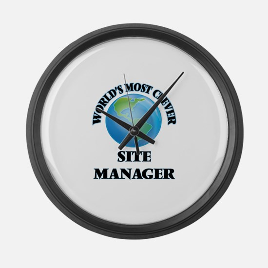 World's Most Clever Site Manager Large Wall Clock