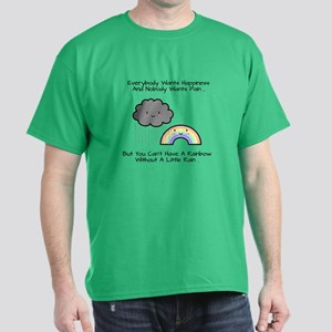 cute rainbow cloud happiness quote T-Shirt