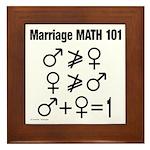 Marriage Math 101 Framed Tile