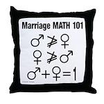 Marriage Math 101 Throw Pillow