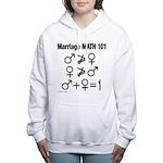 Marriage Math 101 Women's Hooded Sweatshirt