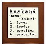 Husband Definition Framed Tile