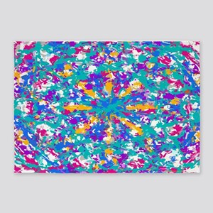 Robin's Egg Blue And Fuchsia Spin 5'x7&#39
