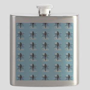 Baby Blue Cheerleader Flask