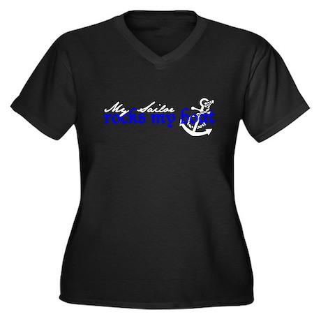 Rocks my boat Women's Plus Size V-Neck Dark T-Shir