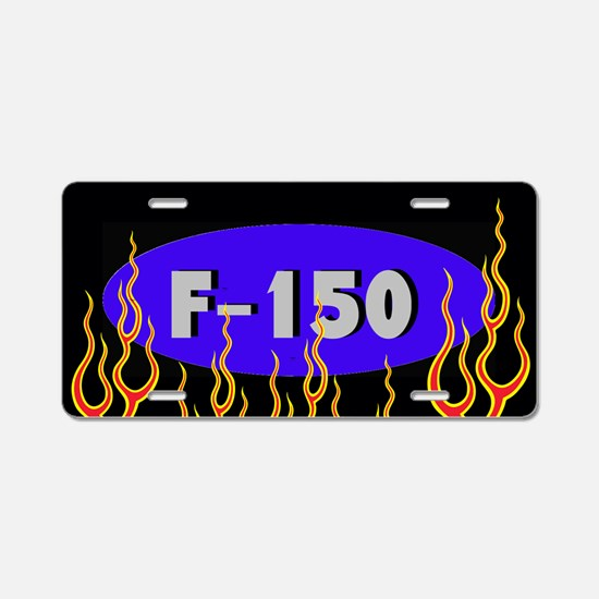 F150 Flames Aluminum License Plate