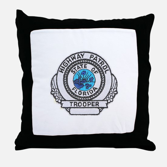 Florida Highway Patrol Throw Pillow