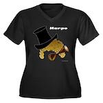 Harpo Women's Plus Size V-Neck Dark T-Shirt