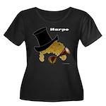 Harpo Women's Plus Size Scoop Neck Dark T-Shirt