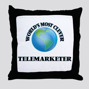 World's Most Clever Telemarketer Throw Pillow