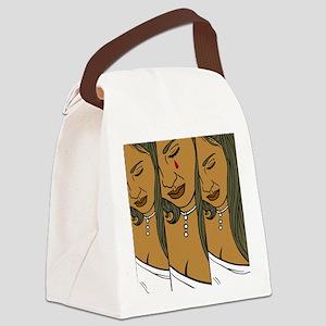 OYOOS Woman's Tears design Canvas Lunch Bag