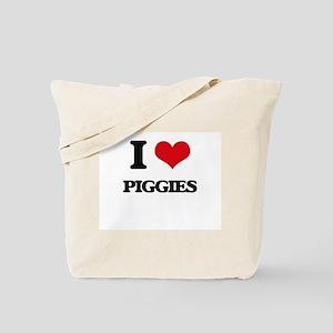 I Love Piggies Tote Bag