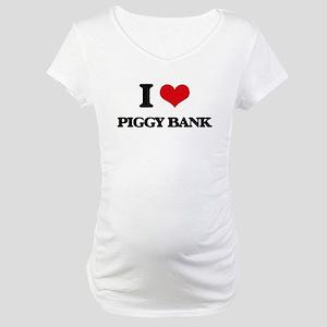 I Love Piggy Bank Maternity T-Shirt