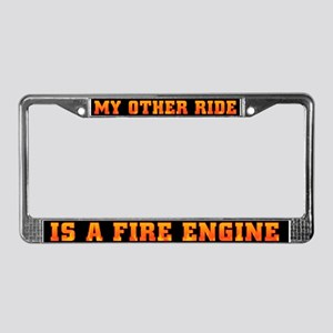 My Other Ride Is A Fire Engine License Plate Frame