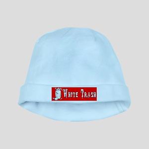 whitetrashbumpersticker baby hat