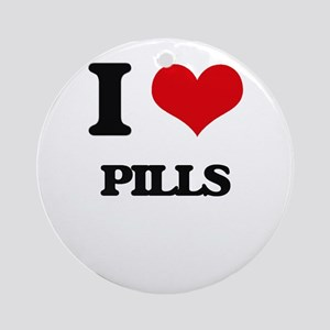 I Love Pills Ornament (Round)