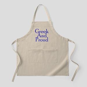 Greek And Proud BBQ Apron