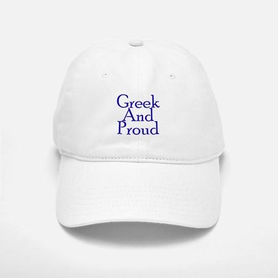 Greek And Proud Baseball Baseball Cap