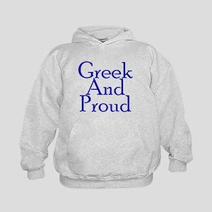 Greek And Proud Kids Hoodie