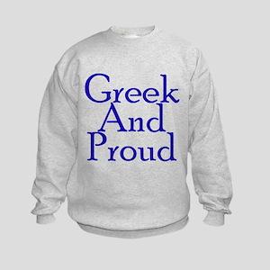 Greek And Proud Kids Sweatshirt