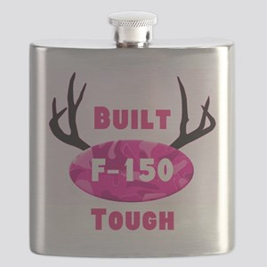 F150 Pink Camo Deer Horns Flask