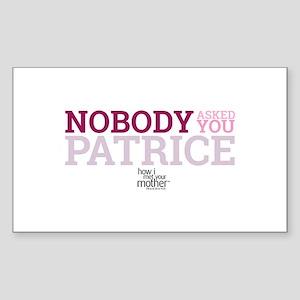 HIMYM Patrice Sticker (Rectangle)