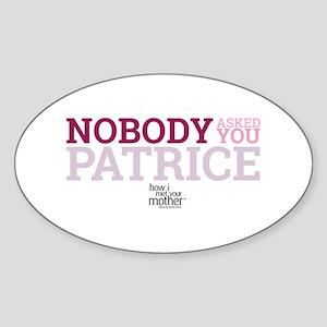 HIMYM Patrice Sticker (Oval)